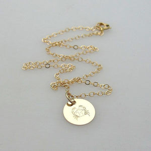 Gold Initial Personalized Charm Necklace