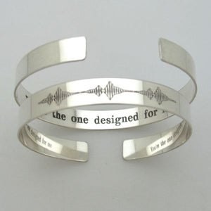 Soundwave Cuff - Personalized Gift for Him, Her