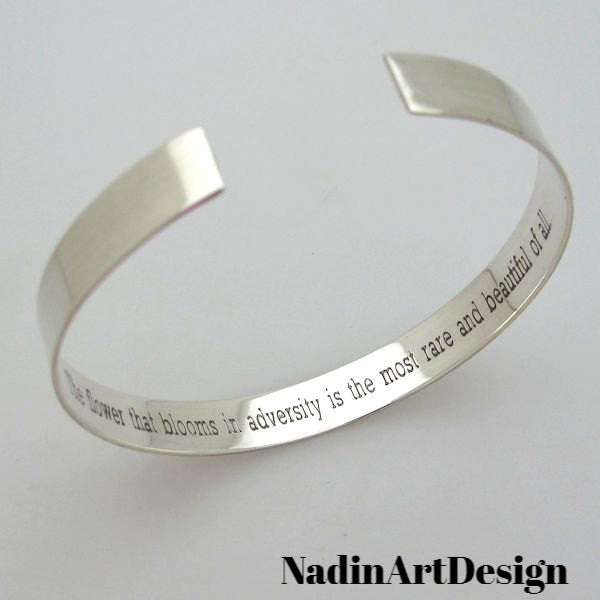 a004c9f6204 Hidden Message Custom Bracelet - Custom Sterling Silver Cuff ...