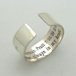 Engraved Soundwave Ring - Gift For Her or Him
