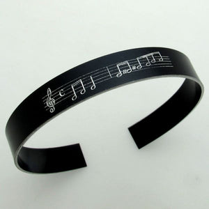 Music Notes Personalized Bracelet - Musician gift