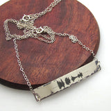 New mom Gift - Personalized Sound Wave Necklace