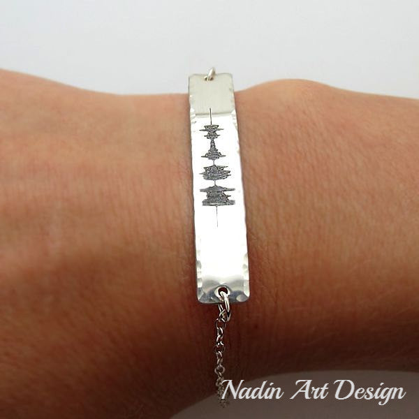 Sterling Silver Sound Wave Bracelet