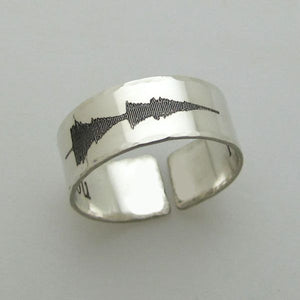 Sound Wave Band Ring for Men