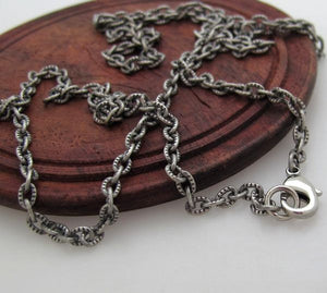 Thick Antique Silver Chain for Men