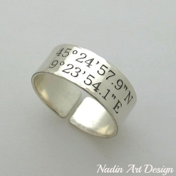 Wide Latitude Longitude ring
