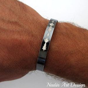 Custom Sound Wave Bracelet - Voice Wave Cuff