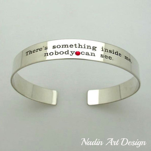 birthstone cuff personalized gift for her sterling silver