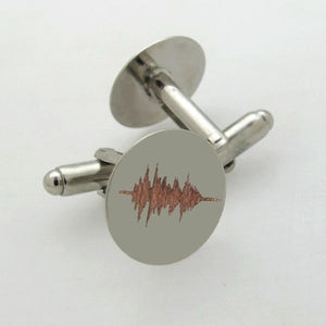 Soundwave Cufflinks - Groomsmen Gift