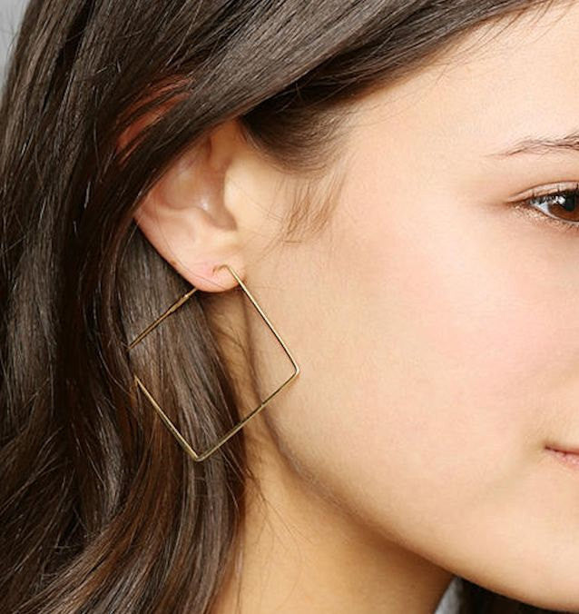 548943352 Square Hoop Earrings - Hoops for everyday wear -Square shaped ...