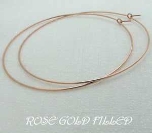 rose gold filled hoop earrings