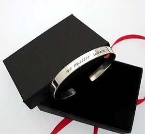 Secret Message Custom Inscribed Bracelet