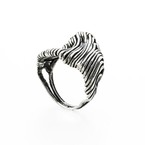 Wide seashell ring