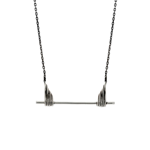 Minimalist feather necklace