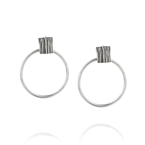 Fine shape statement Hoop Earrings