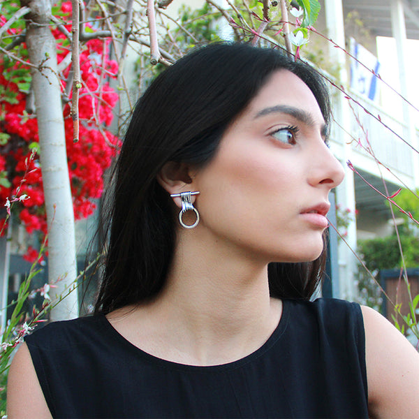 Statement circle earrings