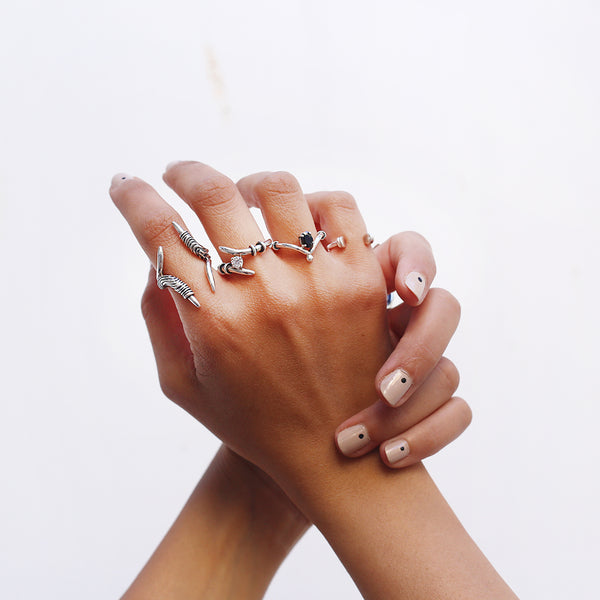Statement edgy ring