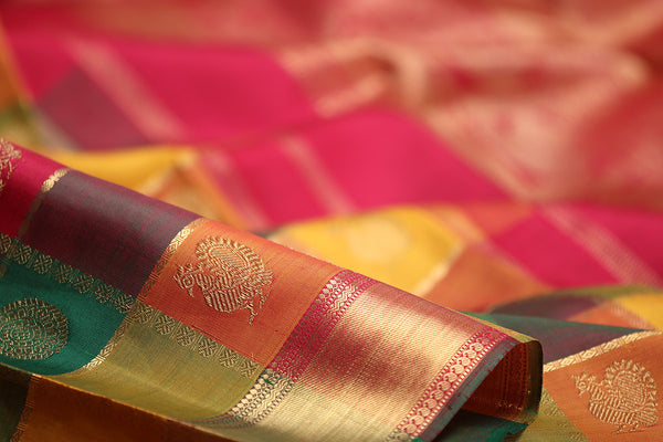 Checks & Stripes in the world of Kanjivarams