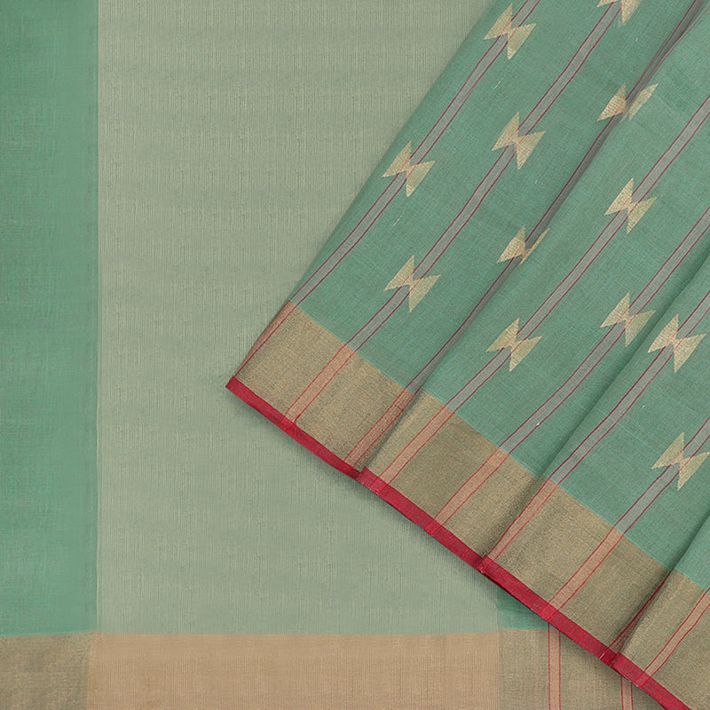Pradeep Pillai Linen/Cotton Sari 008-01-1434 - Cover View