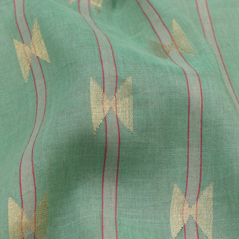 Pradeep Pillai Linen/Cotton Sari 008-01-1434 - Fabric View