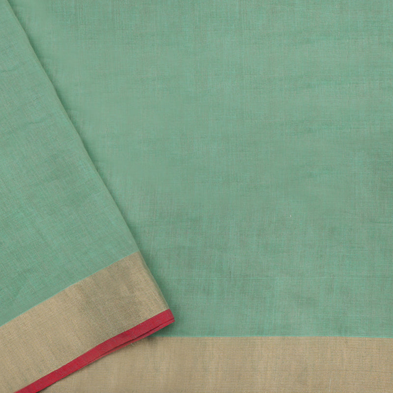 Pradeep Pillai Linen/Cotton Sari 008-01-1434 - Blouse View