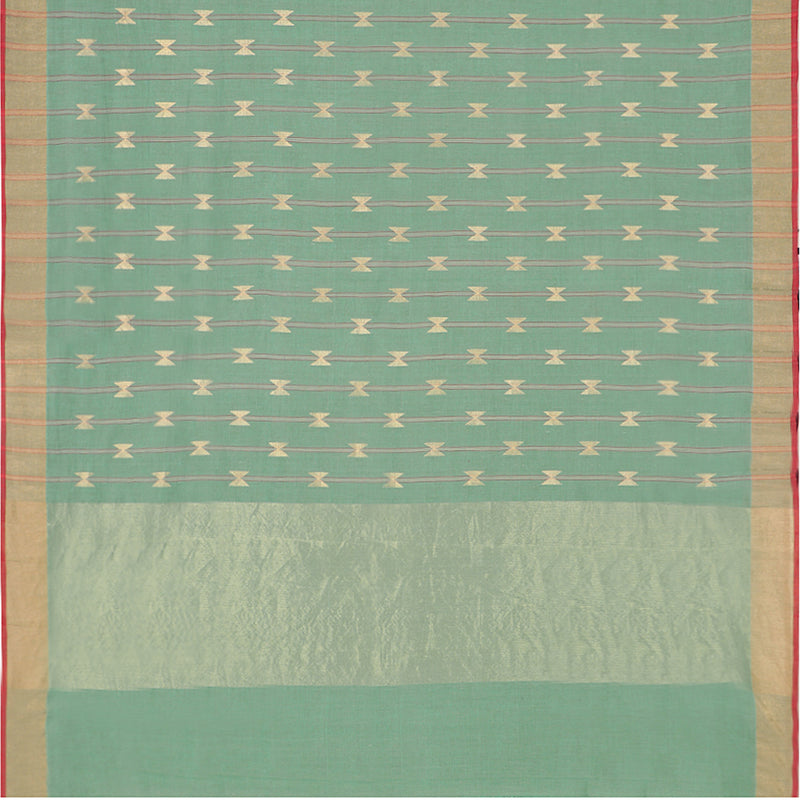 Pradeep Pillai Linen/Cotton Sari 008-01-1434 - Full View