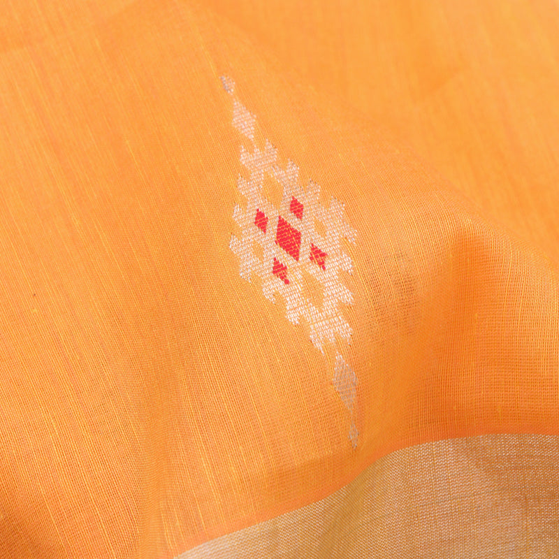Pradeep Pillai Linen/Cotton Sari 008-01-1452 - Fabric View