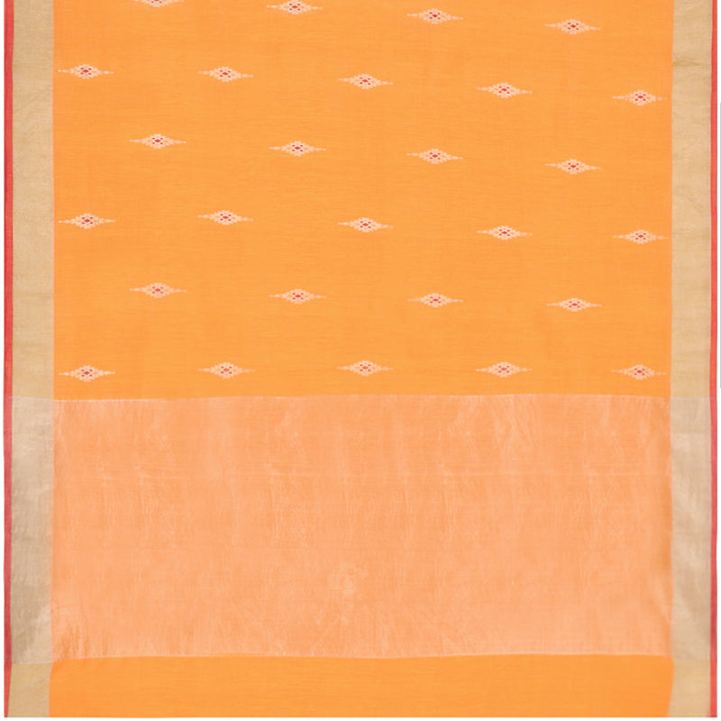 Pradeep Pillai Linen/Cotton Sari 008-01-1452 - Full View