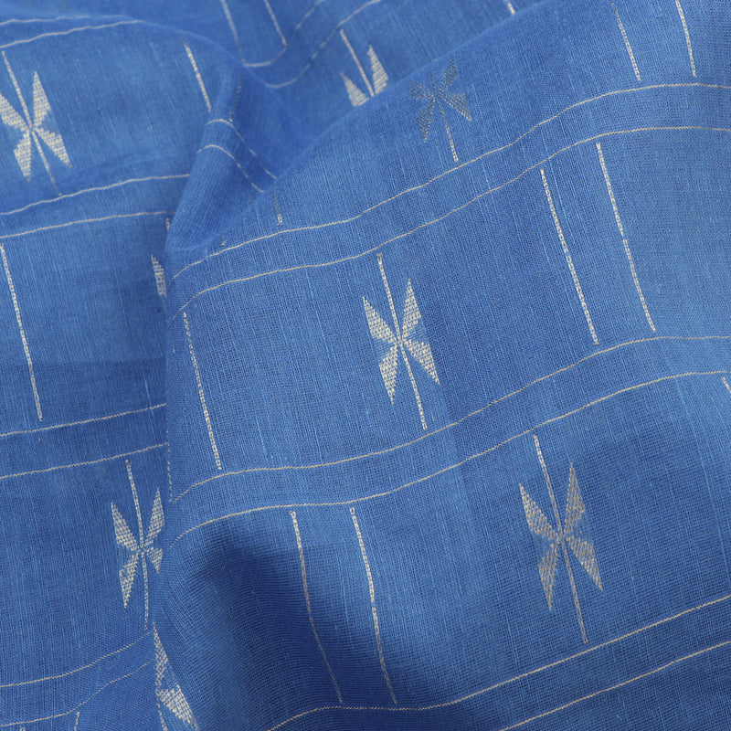 Pradeep Pillai Linen/Cotton Sari 008-01-1667 - Fabric View