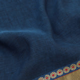 Pradeep Pillai Linen/Cotton Sari 008-01-2709 - Fabic View