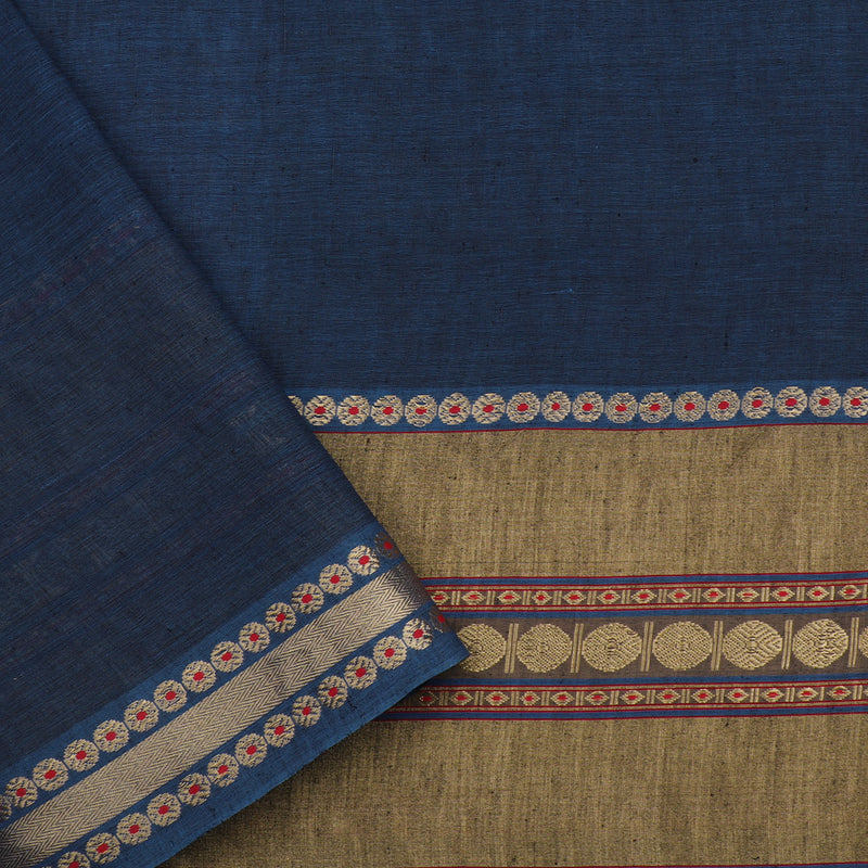 Pradeep Pillai Linen/Cotton Sari 008-01-2709 - Blouse View