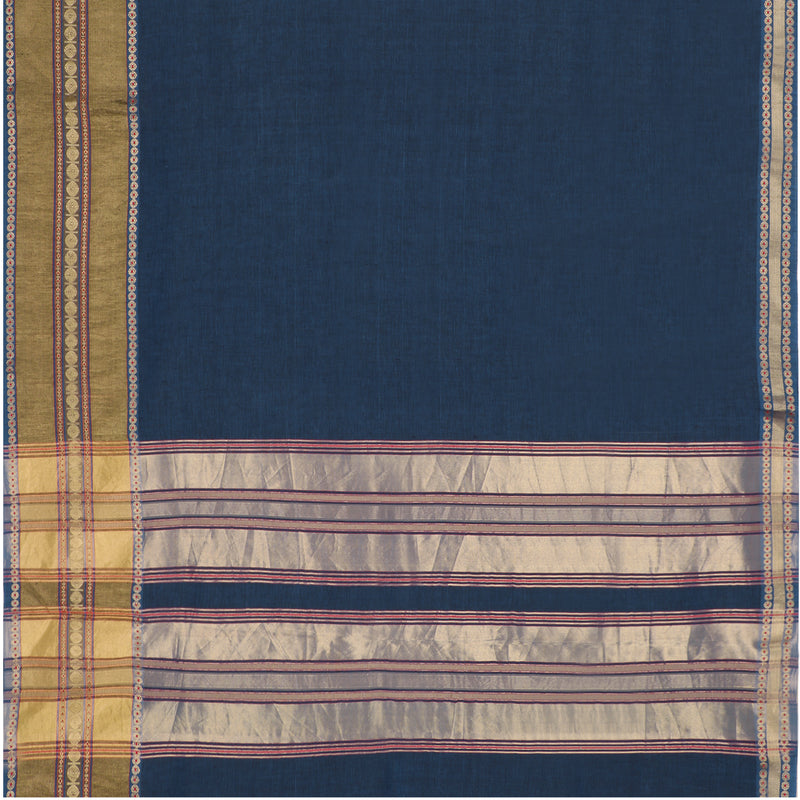 Pradeep Pillai Linen/Cotton Sari 008-01-2709 - Full View