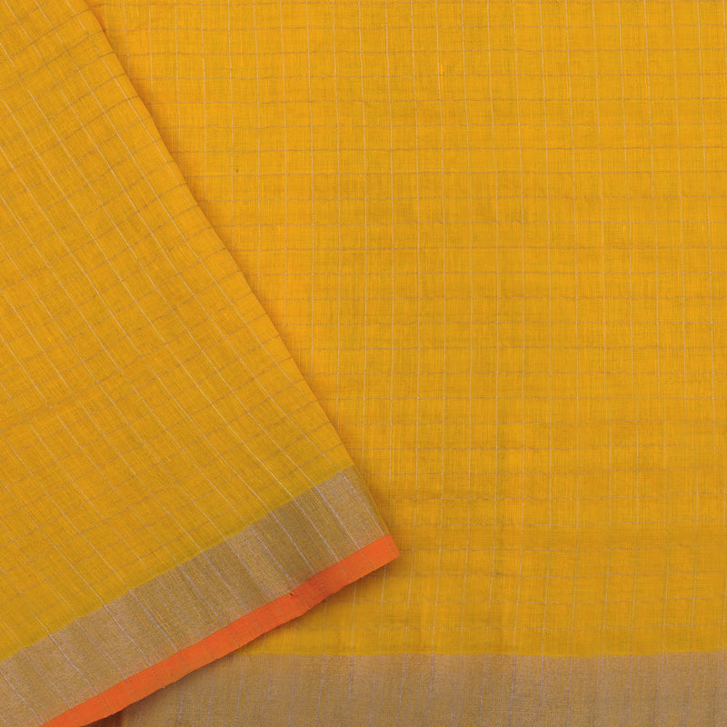 Pradeep Pillai Linen/Cotton Sari 008-01-2729 - Blouse View