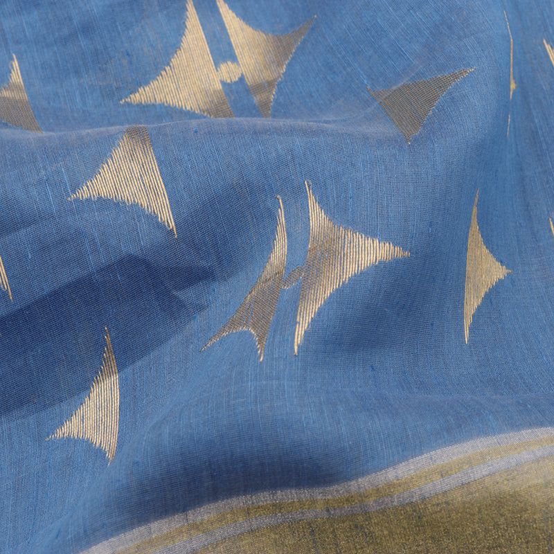 Pradeep Pillai Linen/Silk Sari 008-02-2203 - Fabric View