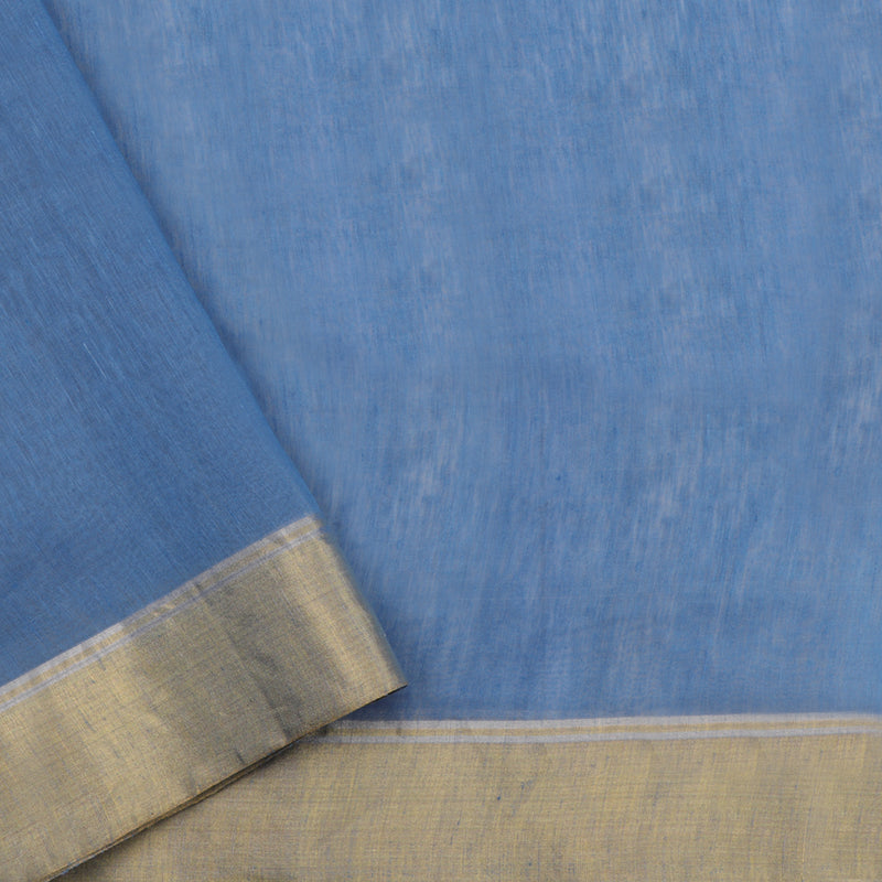 Pradeep Pillai Linen/Silk Sari 008-02-2203 - Blouse View