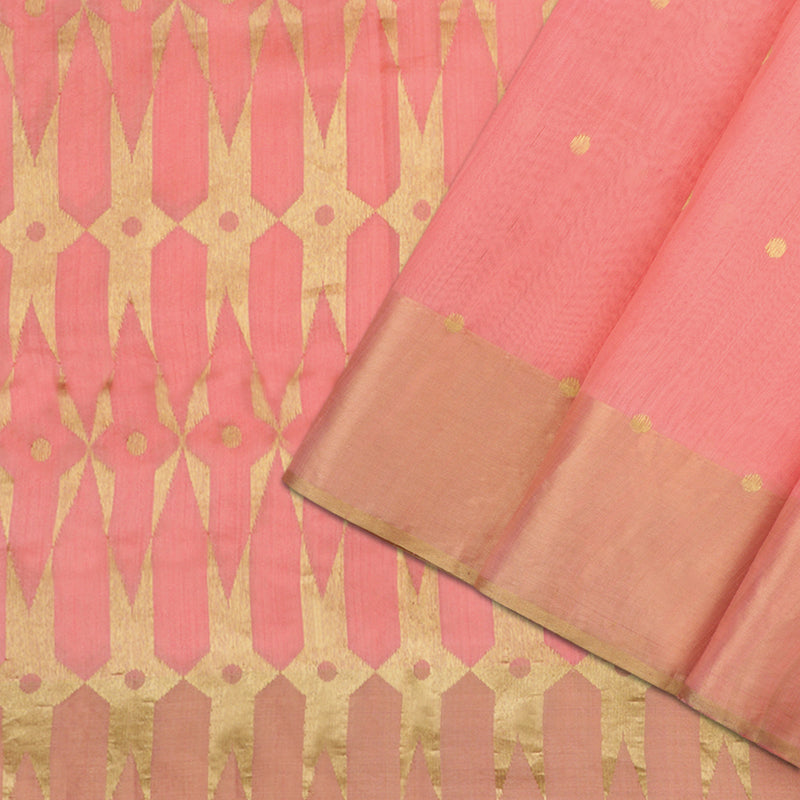 Pradeep Pillai Chanderi Silk/Cotton Sari 008-05-2280 - Cover View