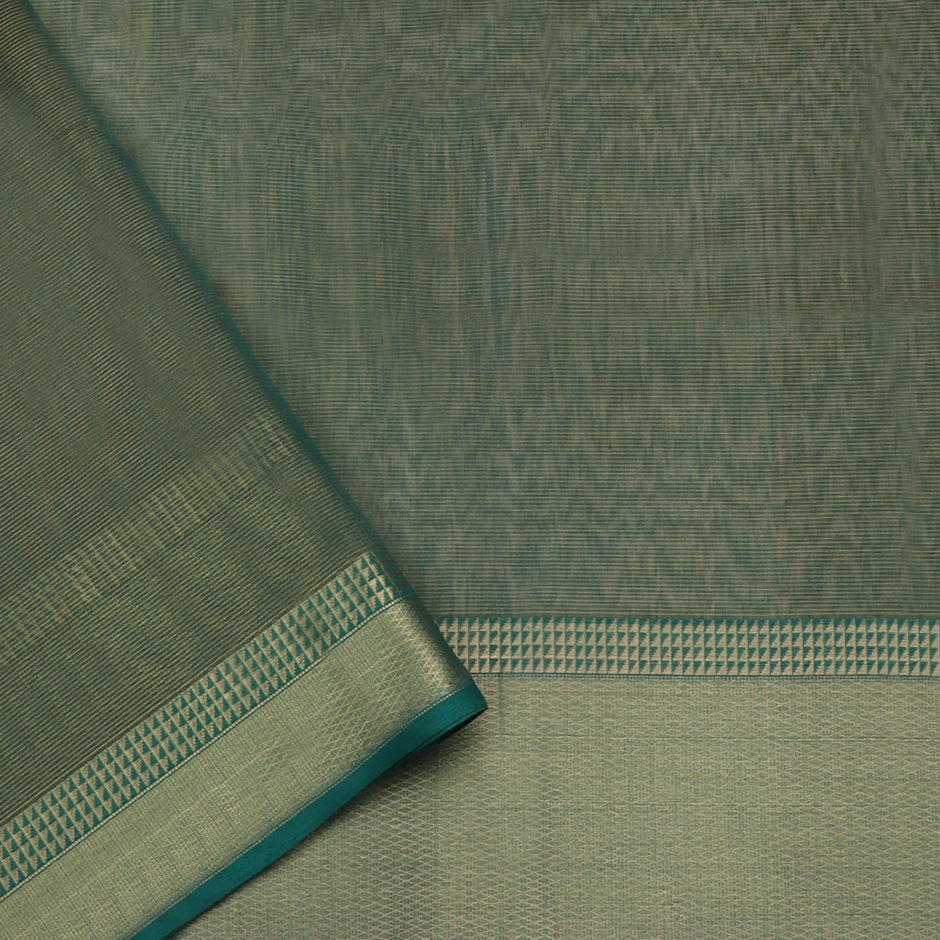 Ecoloom Maheshwari Silk/Cotton Sari 017-02-1448 - Blouse View