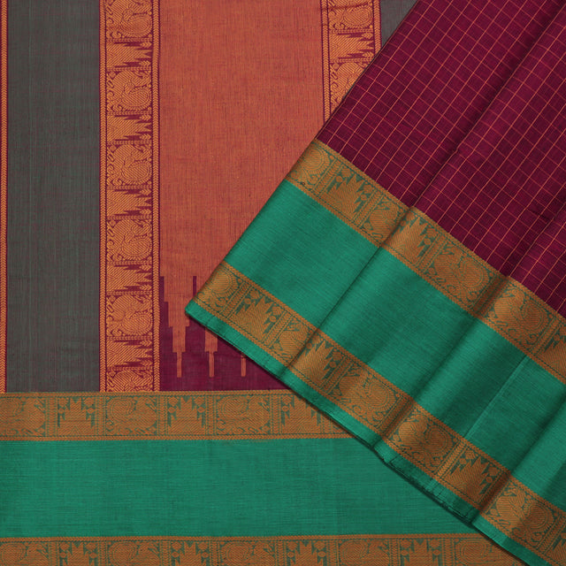 Kanakavalli Kanchi Cotton Sari 071-09-92140 - Cover View