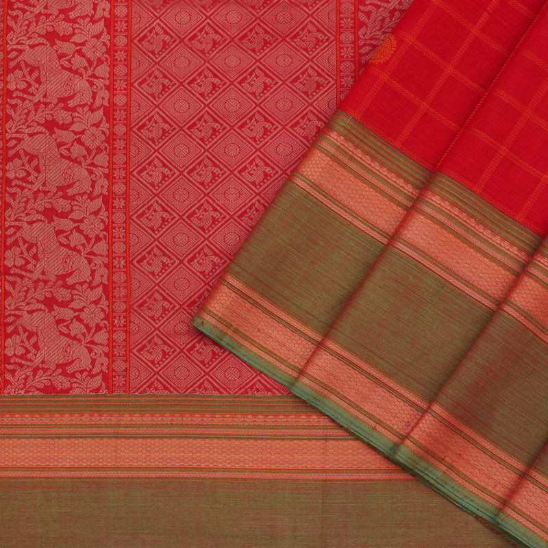 Kanakavalli Kanchi Cotton Sari 071-09-100123 - Cover View