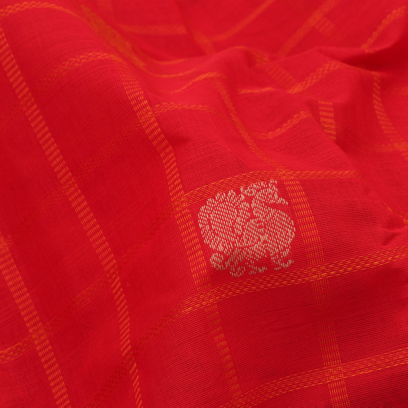 Kanakavalli Kanchi Cotton Sari 071-09-100123 - Fabric View