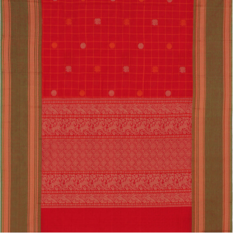 Kanakavalli Kanchi Cotton Sari 071-09-100123 - Full View