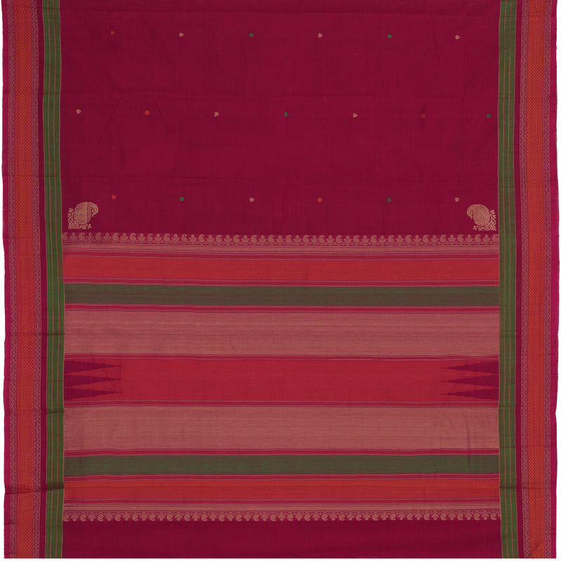 Kanakavalli Kanchi Cotton Sari 071-09-112224 - Full View