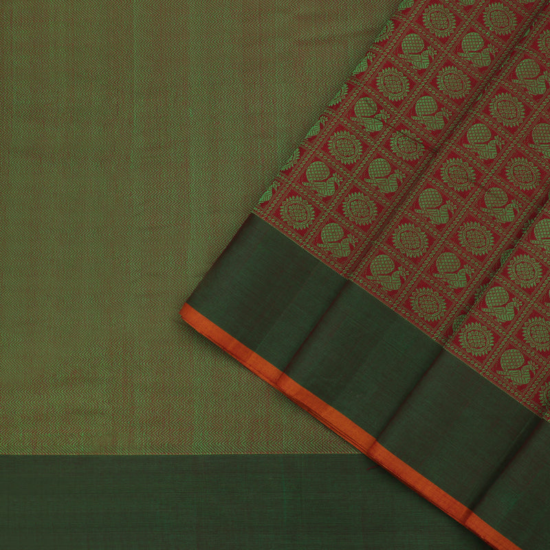 Kanakavalli Kanchi Cotton Sari 071-09-63818 - Cover View