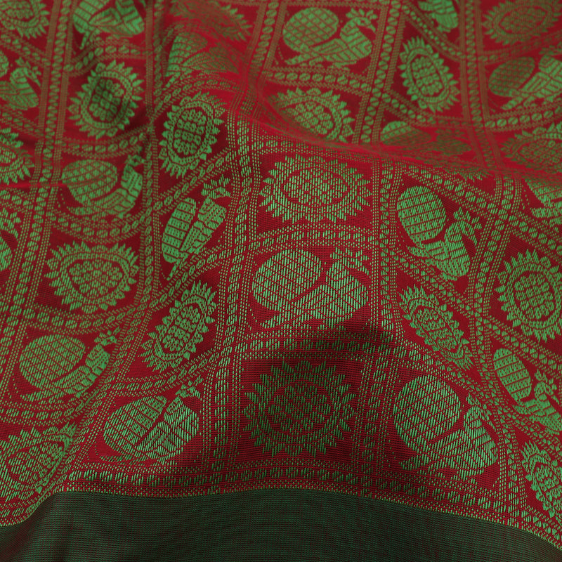 Kanakavalli Kanchi Cotton Sari 071-09-63818 - Fabric View