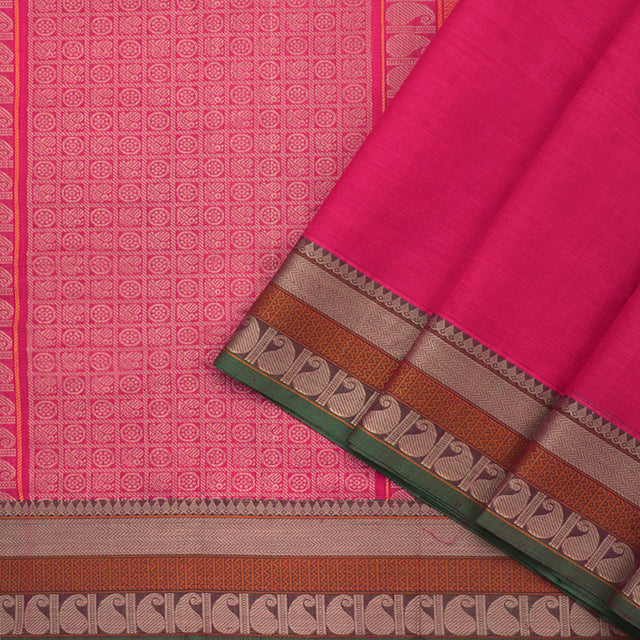 Kanakavalli Kanchi Cotton Sari 071-09-70335 - Cover View