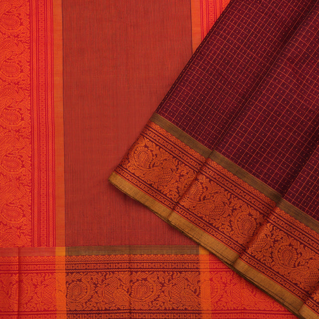 Kanakavalli Kanchi Cotton Sari 071-09-96771 - Cover View