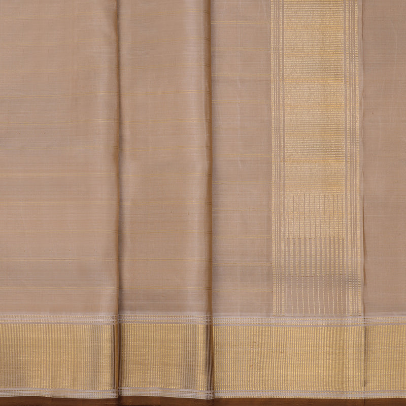 Kanakavalli Kanjivaram Silk Angavastram Set 110-19-105023 - Pleated View