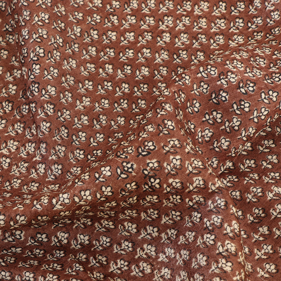 Kanakavalli Printed Tussore Blouse Length 140-06-4213 - Fabric View