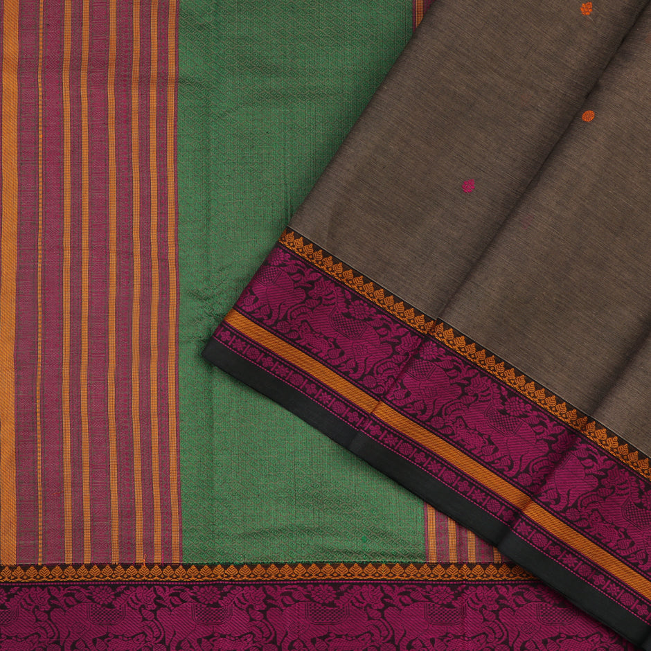 Kanakavalli Kanchi Cotton Sari 071-09-59543 - Cover View