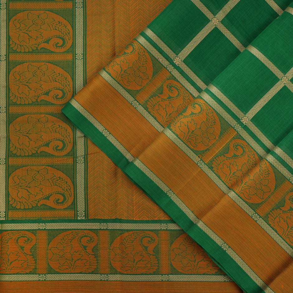 Kanakavalli Kanchi Cotton Sari 071-09-41774 - Cover View